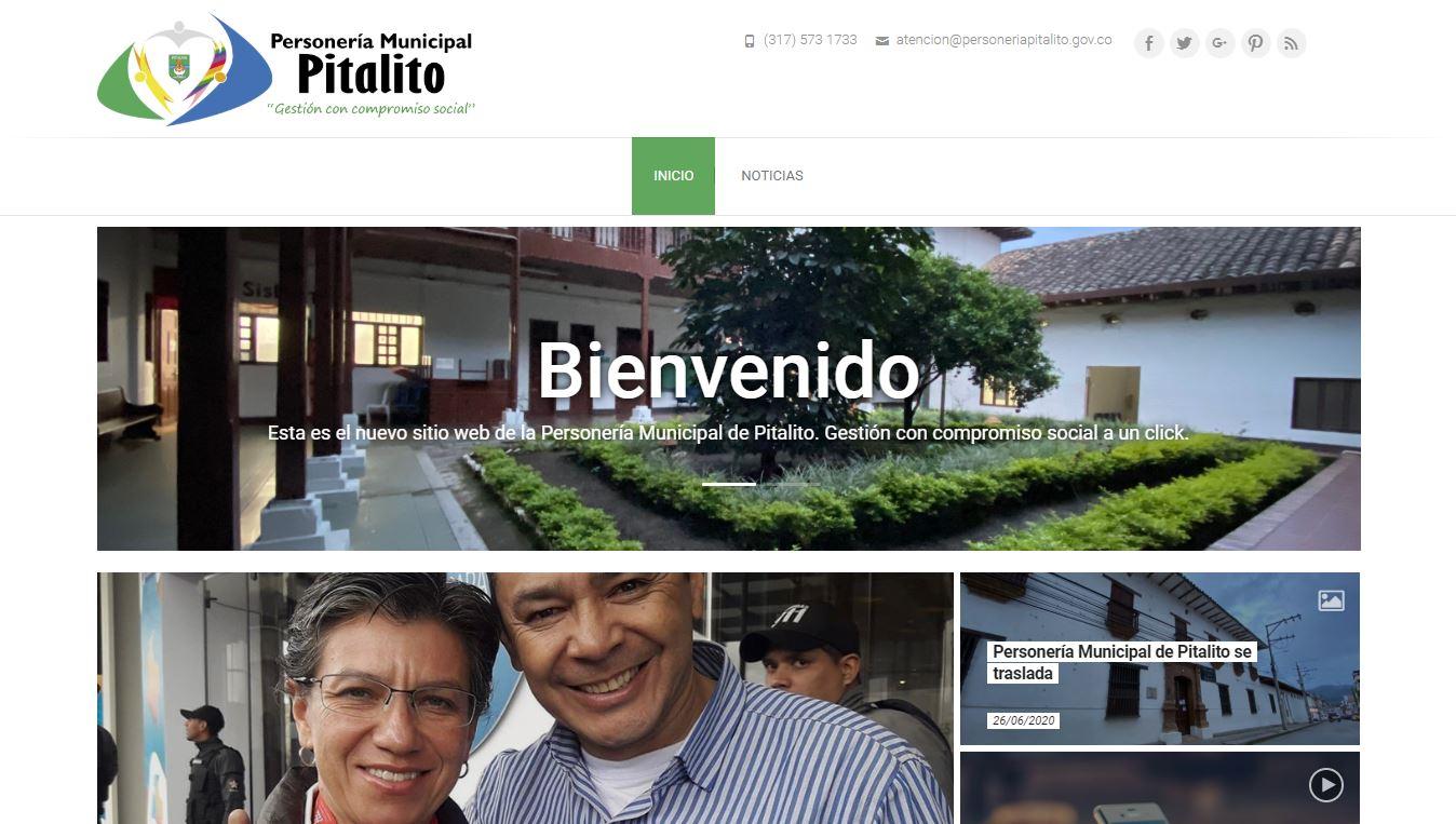 Página web Personería